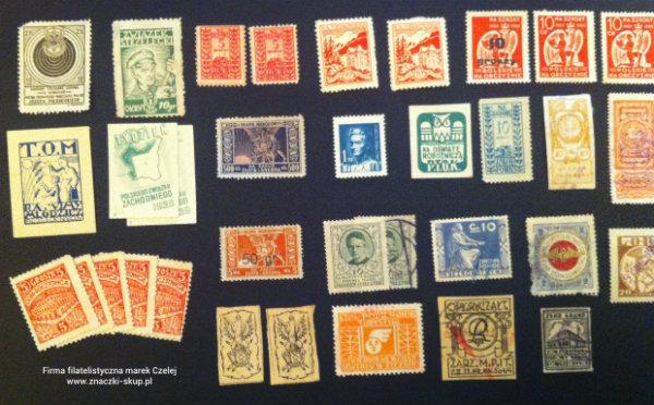 Polskie znaczki -  Patriotyczne cegiełki. przykłady