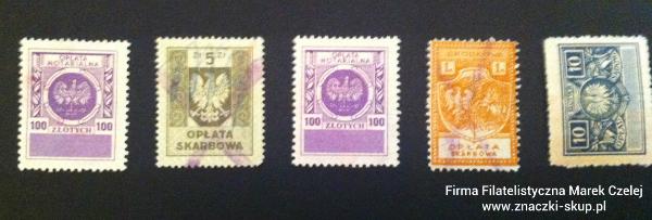 znaczki opłat