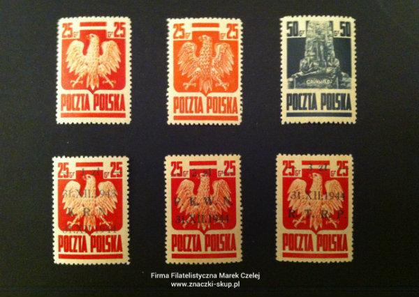 znaczki pocztowe polskie powojenne PRL 1945-4