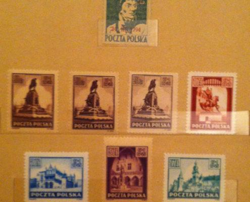 Polskie powojenne znaczki pocztowe 1945